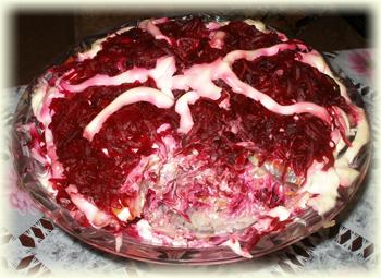 рецепт салата шуба без сельди